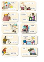 English Worksheet: Present Perfect Continuous cards 1