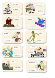 English Worksheet: Present Perfect Continuous cards 2