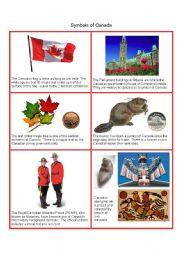 English Worksheets: Canadian Symbols