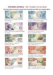 English Worksheet: Canadian Bank Notes