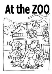 English Worksheets: a coloring and activity book about zoo animals