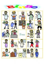 English Worksheets: OCCUPATION BINGO
