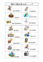 English Worksheet: How often do you...?