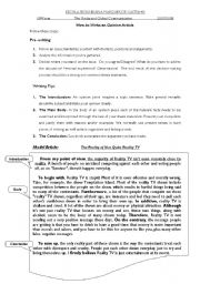 English Worksheets: Opinion article