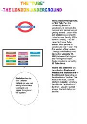 English Worksheets: the lndon tube