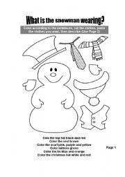 English teaching worksheets: The snowman