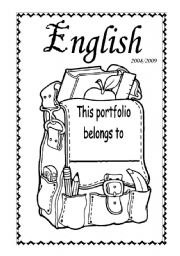 English Worksheet: Cover for the English Portfolio