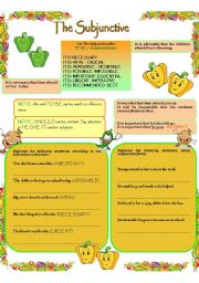 English Worksheets: THE SUBJUNCTIVE --- IT IS IMPORTANT THAT...