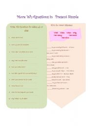 English Worksheets: More Wh-Questions