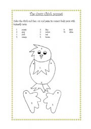 English Worksheets: the crazy chick puppet