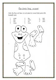English Worksheet: The crazy frog puppet