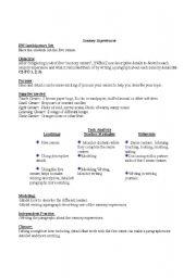 English Worksheets: Sensory Experiences-Ideas