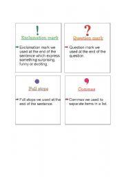 English worksheet: puntuation marks