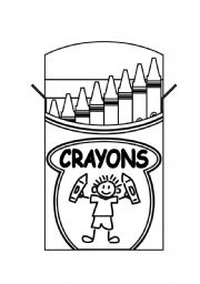 English Worksheets: Crayons