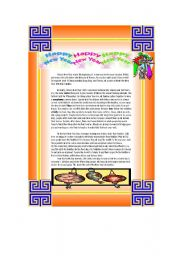 English Worksheet: Reading: Chinese New Year