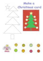 English Worksheet: Make a Christmas Card