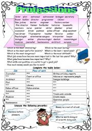 English Worksheets: PROFESSIONS