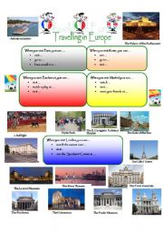 English Worksheet: TRAVELLING IN EUROPE