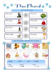 English Worksheets: THE PLURAL