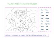 English Worksheets: learning by playing