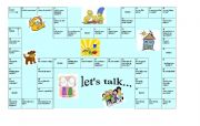 English Worksheets: Let�s talk