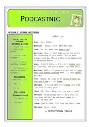 English Worksheet: DINNER INVITATION