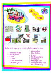 English Worksheets: On the road