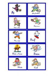 English Worksheets: Memory game