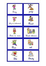 English Worksheets: Memory cards 2