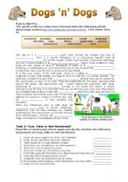 English Worksheets: Dogs �n� Dogs