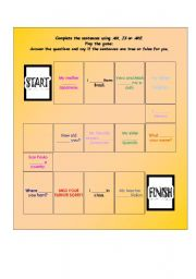 Verb to be - boardgame