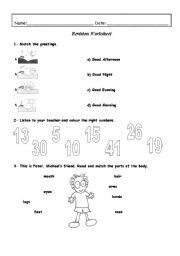 Revision worksheet - 3rd / 4th Grade (4 pages) - ESL worksheet by Kita19