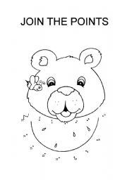English worksheet: join the points bear