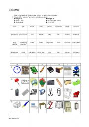 English Worksheet: Office Equipment