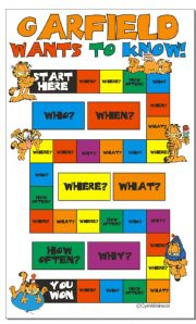 English Worksheet: Game: Garfield wants to know!
