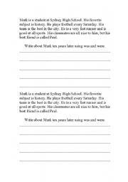 English Worksheets: Be writing worksheet