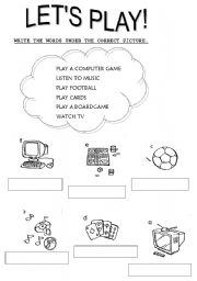 English Worksheets: Let�s play
