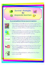 Survival strategies for desperate teachers