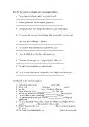 English Worksheet: Conjuction