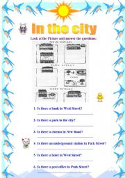 English worksheet: In the City