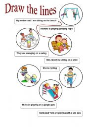 English Worksheets: draw the lines