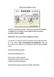 English Worksheet: webquest: English stereotypes