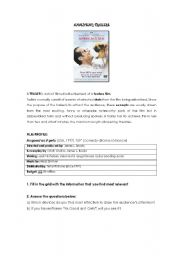 English Worksheets: Analysing a trailer: