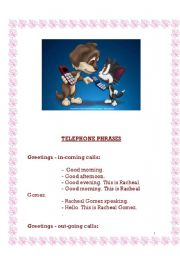 English Worksheets: telephone points- how to use the phone