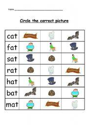 Kindergarten Reading Writing Worksheets Make A Word Write The Missing Letter