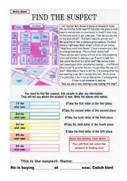 Solving a crime on worksheet Part 1