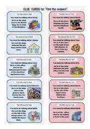 English Worksheets: Solving a crime on worksheet part 2