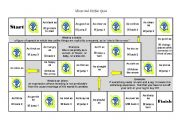 English worksheet: Idioms - the ultimate board game