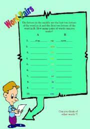 English Worksheets: Word pairs