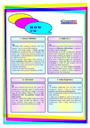 English Worksheets: HOW TO......